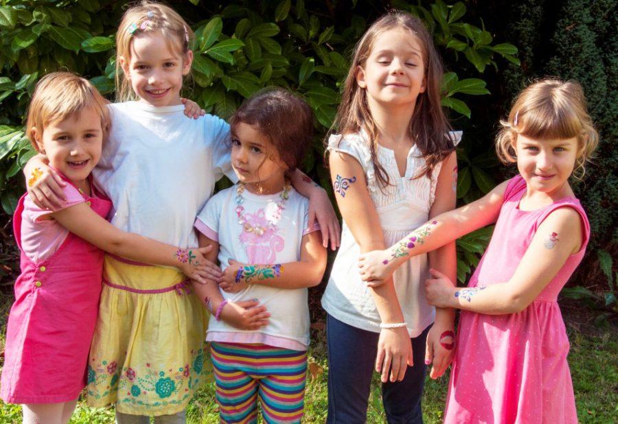 Csillámtetoválás kislányoknak