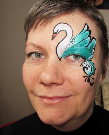 Középhaladó arcfestés képzésen