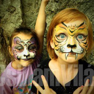 Macskák-arcfestés