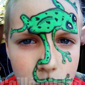 Béka-arcfestés