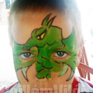 Sárkány-arcfestés