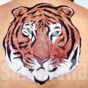Tigris csillámtetoválás