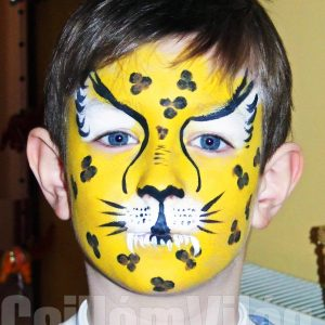 Leopárd-arcfestés