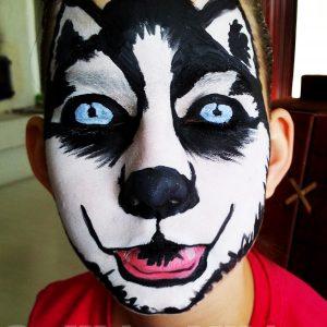 Husky-arcfestés