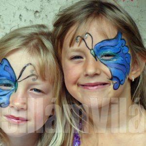 Pillangók-arcfestés
