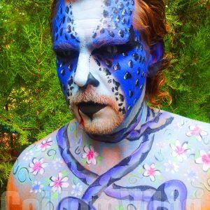 65-Kékkígyó-arcfestés