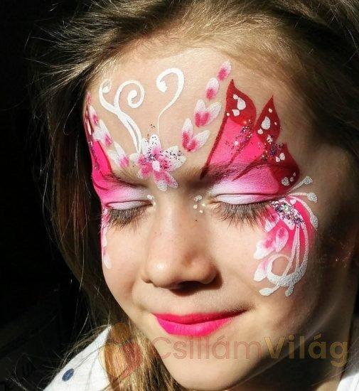 Tündér arcfestés - kezdő arcfestés tanfolyam, CsillámVilág